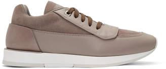 Jimmy Choo Taupe Leather Jett Sport Sneakers