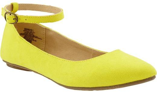 Old Navy Women's Sueded Ankle-Strap Flats