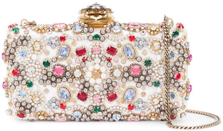 Alexander McQueenAlexander McQueen satin ribbon embellished clutch