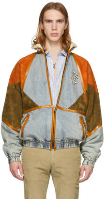 Gucci Blue SF Giants Edition Denim Patch Jacket
