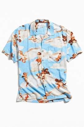 Urban Outfitters Cherub Rayon Short Sleeve Button-Down Shirt