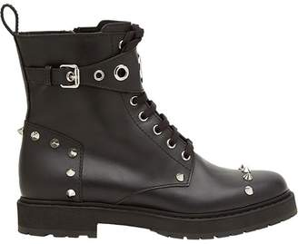 Fendi lace-up studded boots