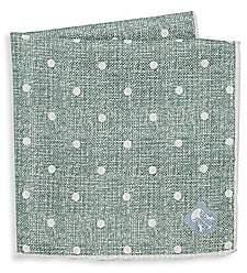 Corneliani Men's Polka-Dot Silk Pocket Square