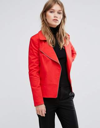 Helene Berman Red Biker Jacket