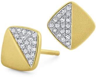 KC Designs Women's 14K Yellow Gold Diamond Pavé Square Stud Earrings