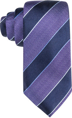 Tasso Elba Men's Core Navy Stripe Tie, Only at Macy's $59.50 thestylecure.com