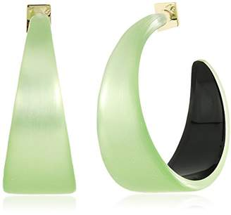 Alexis Bittar Wide Graduated Medium Hoop Lucite Earring