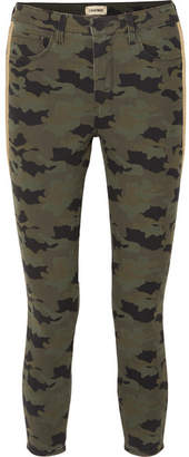 L'Agence Margot Cropped Camouflage-print High-rise Skinny Jeans - Army green