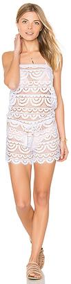 PILYQ Marisa Lace Romper in White $143 thestylecure.com