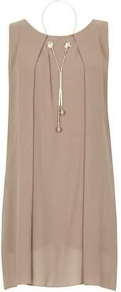 Dorothy Perkins Womens *Izabel London Stone Necklace Trim Tunic Top