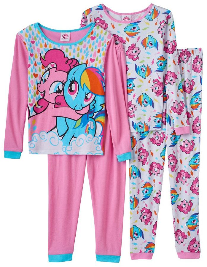 Girls 4-10 My Little Pony Pinkie Pie & Rainbow Dash Pajama Set