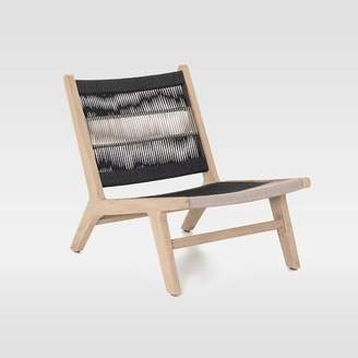 west elm Wood + Rope Outdoor Lounge Chair