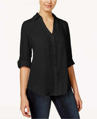 Bcx Juniors' Tab-Sleeve Shirt $29.98 thestylecure.com