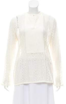 Lanvin Lace Long Sleeve Top