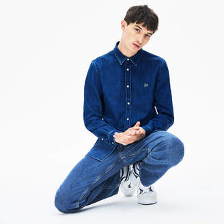Lacoste Men's Loose Fit Snap-Button Denim Shirt