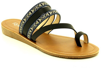 Refresh Newport Embroidered Toe Loop Sandal $27.50 thestylecure.com