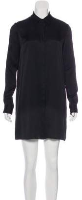 The Row Silk Long Sleeve Shirtdress