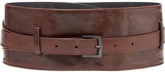 Brunello Cucinelli Textured-leather Waist Belt - Brown