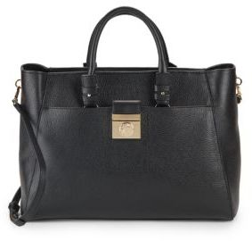 Convertible Calfskin Leather Tote Bag