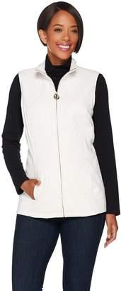 Dennis Basso Lightweight Embroidered Nylon Vest