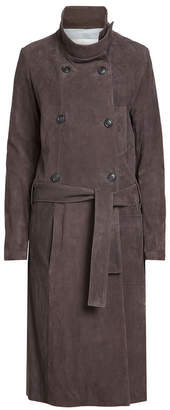 Golden Goose Suede Trench Coat