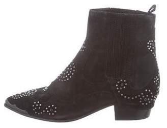 Ash Embellished Suede Ankle Boots