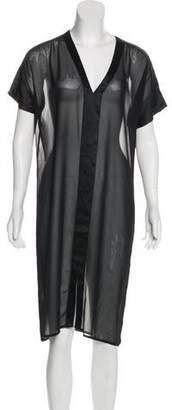 J Brand Sheer Maxi Dress