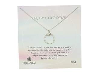 Dogeared Pretty Little Pearls, Ring with Bezeled Pearl Necklace