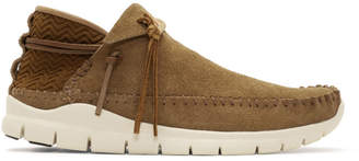 Visvim Brown Folk Trainer Moccasins
