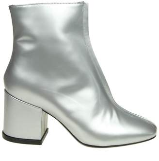 Kenzo daria Ankle Boot In Silver Color Leather