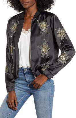Endless Rose Beaded Bomber Jacket