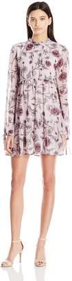 Jolt Women's Floral Printed L/s Tiered Dress