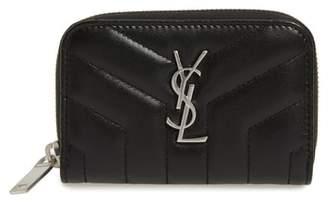 Saint Laurent Loulou Matelasse Leather Card Wallet
