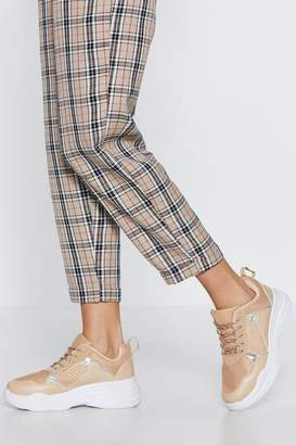 Nasty Gal Net Over Yourself Faux Leather Sneaker
