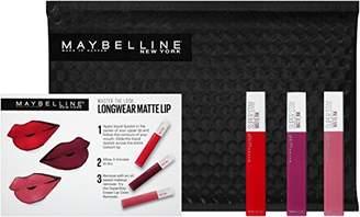 Maybelline New York NY Minute Makeup Kit SuperStay Matte Ink Liquid Lipstick Lip Kit