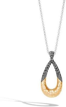John Hardy Classic Chain Hammered 18K Teardrop Pendant Necklace
