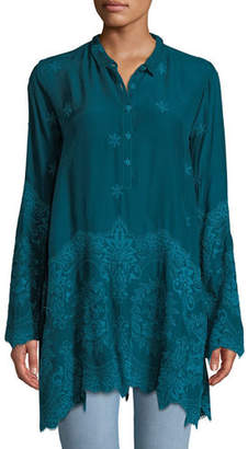 Johnny Was Love Embroidered Easy Tunic, Plus Size