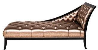 Versace Shadow Tufted Metallic Leather Chaise