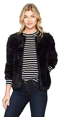 Calvin Klein Women's Furry Open Cardigan