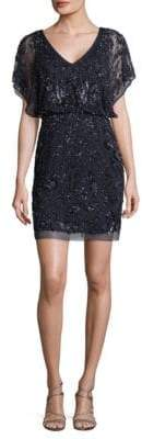 Aidan Mattox Embellished Blouson Dress