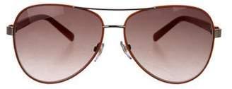 9e7c11447a Diane von Furstenberg Brandy Aviator Sunglasses