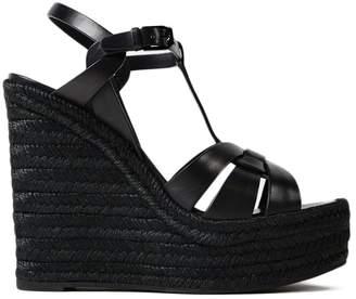 Saint Laurent Tribute Espadrille Wedged Sandals