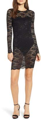 Leith Lace Overlay Body-Con Dress