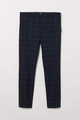 H&M Skinny Fit Suit Pants - Blue