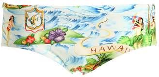 DSQUARED2 Underwear Hawaiian Printed Nylon Swim Briefs