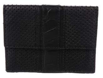 John Varvatos Perforated Leather Cardholder