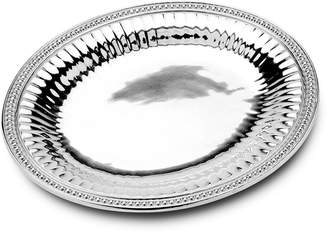 Wilton Armetale Flutes and Pearls Large Oval Tray