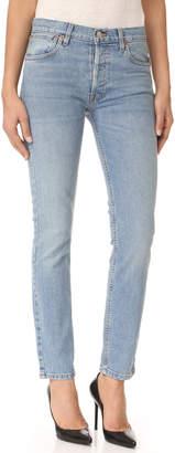 RE/DONE Originals Stretch Straight Skinny Jeans $250 thestylecure.com