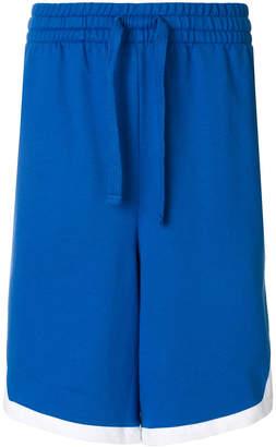 Emporio Armani Ea7 contrasting side panel track shorts
