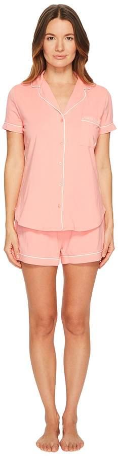 Kate Spade New York - Peach Queen of Hearts Classic Short Pajama Set Women's Pajama Sets